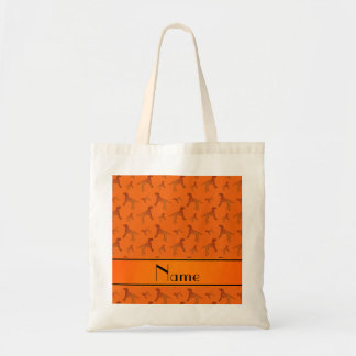 Perros anaranjados conocidos personalizados del bolsa tela barata