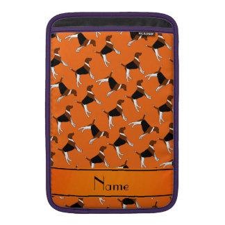 Perros anaranjados conocidos personalizados del funda macbook air