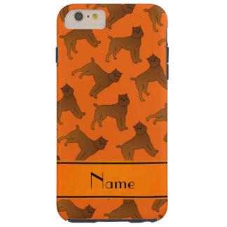 Perros anaranjados conocidos personalizados del funda de iPhone 6 plus tough