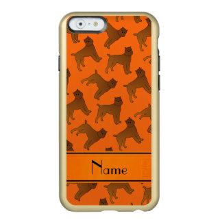 Perros anaranjados conocidos personalizados del funda para iPhone 6 plus incipio feather shine
