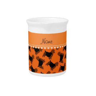 Perros anaranjados conocidos personalizados del jarron
