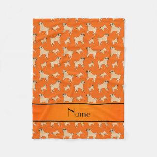 Perros anaranjados conocidos personalizados del manta de forro polar