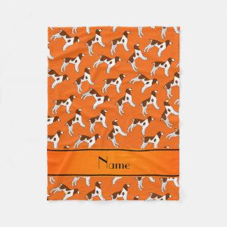 Perros anaranjados conocidos personalizados del manta polar