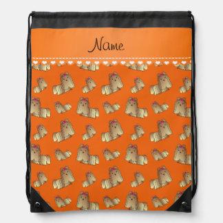 Perros anaranjados conocidos personalizados del mochila
