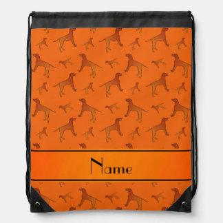 Perros anaranjados conocidos personalizados del mochilas