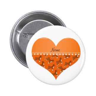 Perros anaranjados conocidos personalizados del pin redondo 5 cm