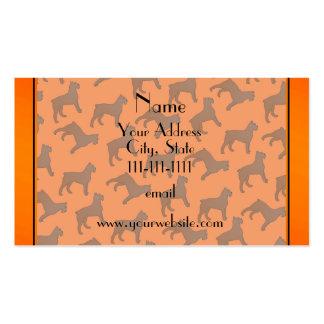 Perros anaranjados conocidos personalizados del tarjetas de visita