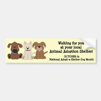 Perros animales del Adopción-Rescate/del refugio Etiqueta De Parachoque