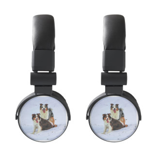 Perros australianos de los pares del pastor auriculares