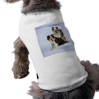 Perros australianos de los pares del pastor playera sin mangas para perro