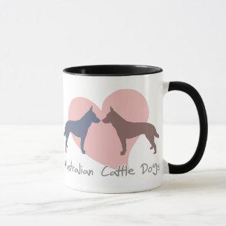 Perros australianos del ganado del amor