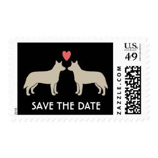 Perros australianos del ganado que casan reserva sellos postales