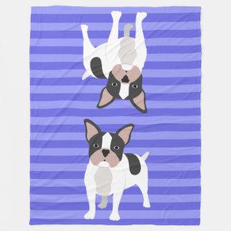 Perros azules manta de forro polar