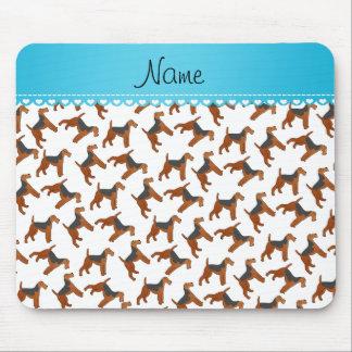Perros blancos conocidos personalizados de los alfombrilla de ratón