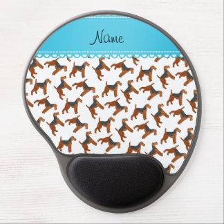 Perros blancos conocidos personalizados de los alfombrilla de raton con gel