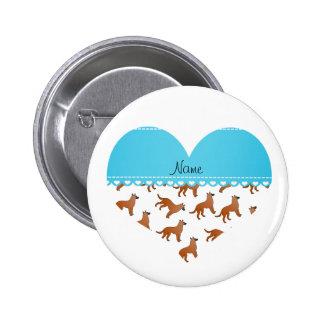Perros blancos conocidos personalizados de los pin redondo 5 cm