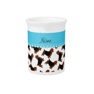 Perros blancos conocidos personalizados del jarras para bebida
