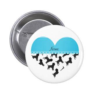 Perros blancos conocidos personalizados del pin redondo 5 cm