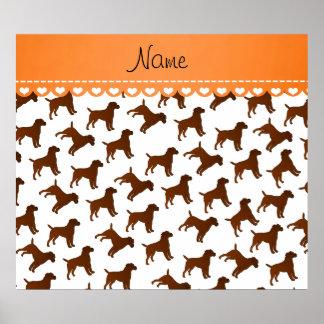 Perros blancos conocidos personalizados del póster