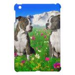 Perros Brindle y azules de Staffordshire y del pit iPad Mini Funda