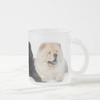 Perros chinos de YingYang Taza De Cristal