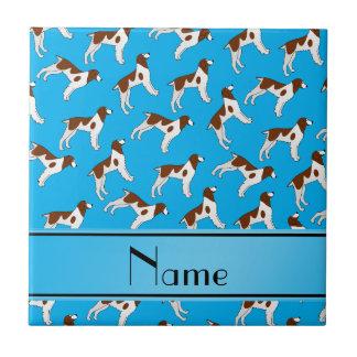 Perros conocidos personalizados del perro de aguas azulejo cuadrado pequeño