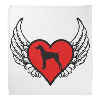Perros cons alas alemanes del amor del corazón del bandana