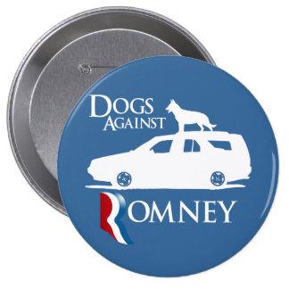 Perros contra Mitt Romney .png Pin Redondo De 4 Pulgadas