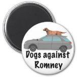 Perros contra Romney Imán Redondo 5 Cm