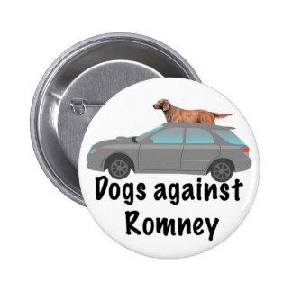 Perros contra Romney Pin