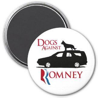 Perros contra Romney - .png Imán Redondo 7 Cm