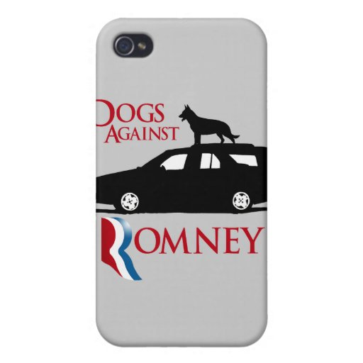 Perros contra Romney - .png iPhone 4 Protector