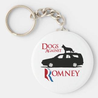 Perros contra Romney - .png Llavero Redondo Tipo Pin