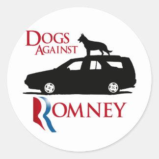Perros contra Romney - .png Pegatina Redonda
