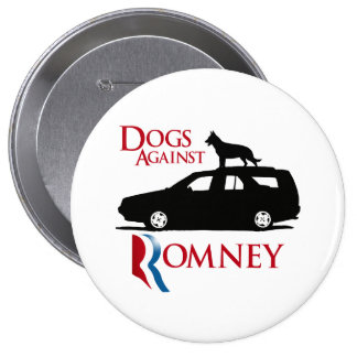Perros contra Romney - .png Pin Redondo De 4 Pulgadas