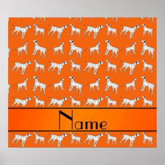 Perros dálmatas anaranjados conocidos póster