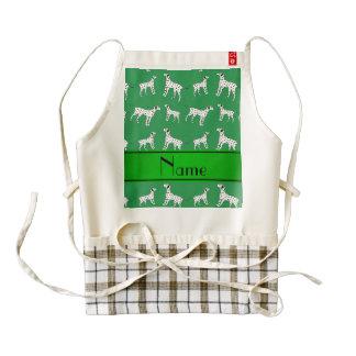 Perros dálmatas verdes conocidos personalizados delantal zazzle HEART