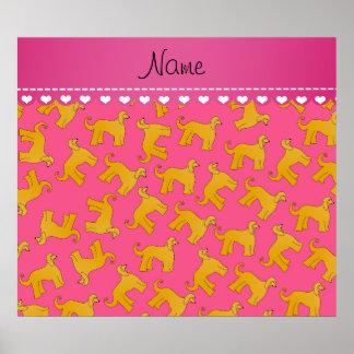 Perros de afgano rosados conocidos personalizados póster