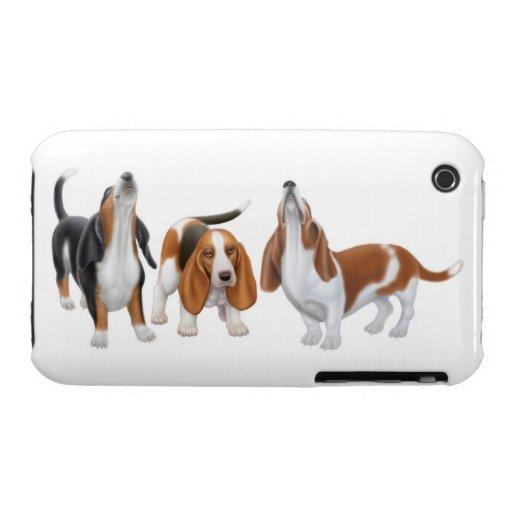 Perros de afloramiento del canto caso del iPhone 3 Case-Mate iPhone 3 Fundas