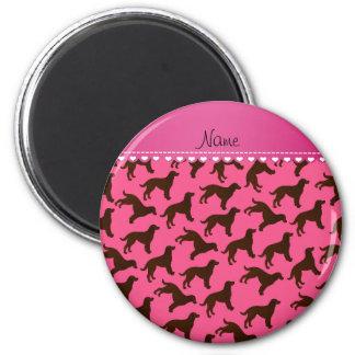 Perros de aguas de agua americana rosados imán redondo 5 cm