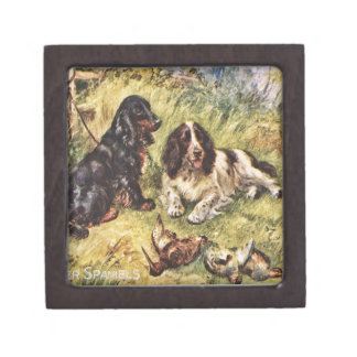 Perros de aguas de cocker caja de recuerdo de calidad