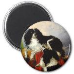 Perros de aguas de rey Charles - arte del perro -  Imán De Frigorifico