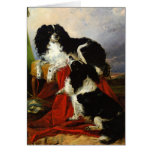 Perros de aguas de rey Charles - arte del perro -  Tarjeta