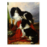 Perros de aguas de rey Charles - arte del perro - Tarjeta Postal
