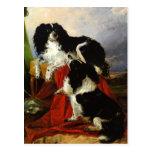 Perros de aguas de rey Charles - arte del perro -  Tarjetas Postales