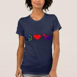 Perros de aguas de saltador galés del amor de la camisetas