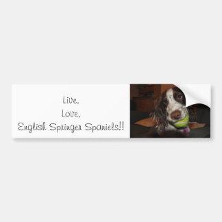 Perros de aguas de saltador inglés vivos del amor pegatina de parachoque