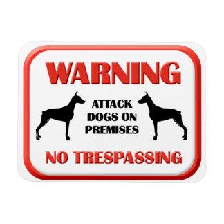 Perros de ataque AMONESTADORES Iman De Vinilo