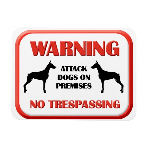 Perros de ataque AMONESTADORES Rectangle Magnet