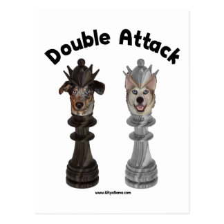 Perros de ataque dobles del ajedrez postal